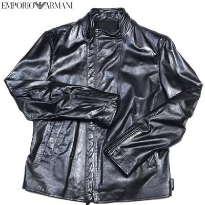 【送料無料】 エンポリオアルマーニ(EMPORIO-ARMANI) メンズ レザーブルゾン ライダース ジャケット ブラック K1B29P K1P41 999 12A