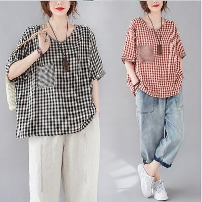 春夏新作 ファッション 人気Tシャツ ブラック アカ2色展開