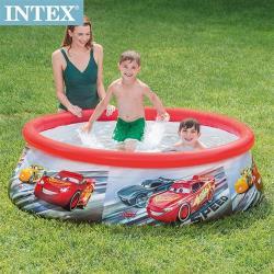 INTEX CARS麥坤-簡易裝EASY SET游泳池183x51cm(880L)適用3歲+(28103)