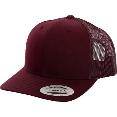 フレックスフィット Flexfit ユニセックス キャップ 帽子 - Retro Trucker Maroon - Cap burgundy