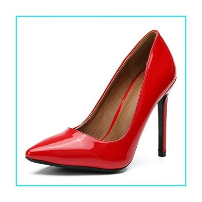 Women's Pointy-Toe Stiletto High Heels Dress Pumps Patent Red Label Size 45 - US 11.5【並行輸入品】