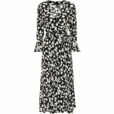 ラルフ ローレン Polo Ralph Lauren レディース ワンピース ワンピース・ドレス floral crepe de chine midi dress Black/White Iris