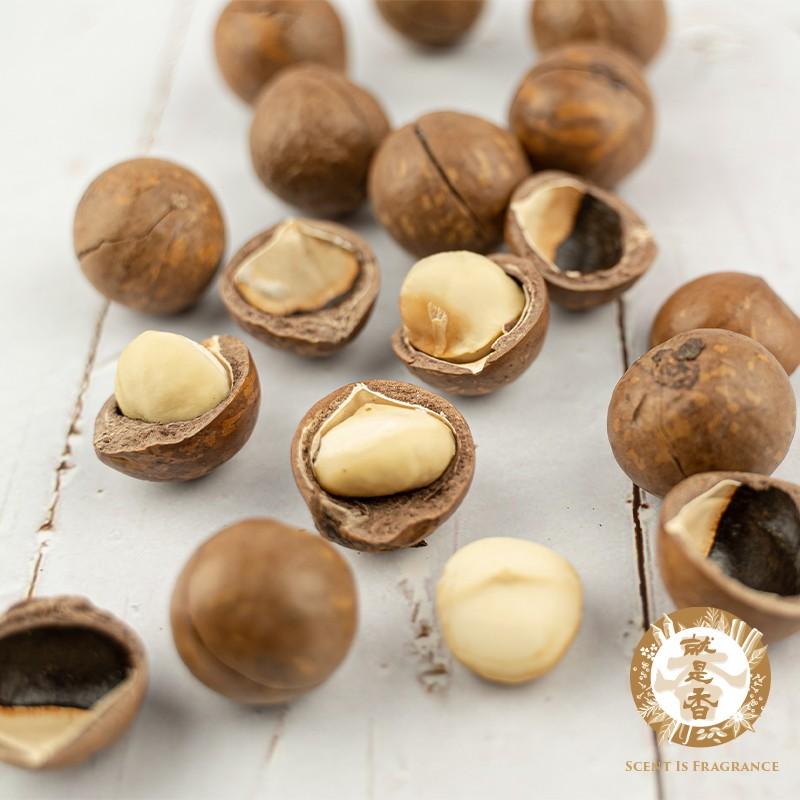 【就是香】夏威夷豆 500g,380項農藥殘留檢驗合格「原味帶殼 附剝殼器」鋁箔夾鏈袋裝