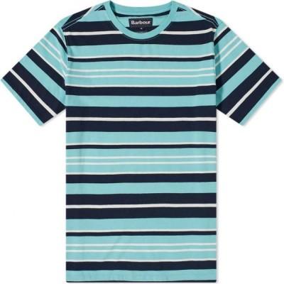 バブアー Barbour メンズ Tシャツ トップス port stripe tee Nile Blue