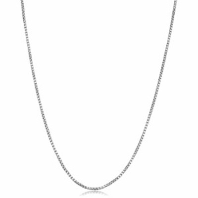 Kooljewelry Sterling Silver High Polish Round Box Chain Necklace (1.1 mm, 22 inch)