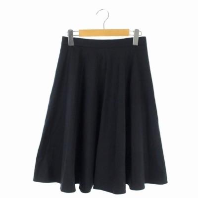 【中古】エムズセレクト m's select フレアスカート ひざ丈 38 黒 ブラック /HS ■OS レディース 【ベクトル 古着】