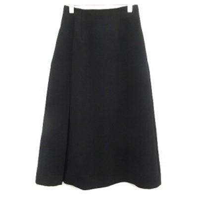 【中古】ルシェルブルー LE CIEL BLEU スカート フレア マキシ ロング 36 黒 ブラック ●D /AD16 レディース