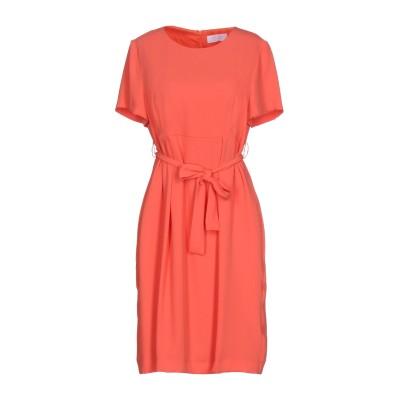 CLIPS MORE ミニワンピース&ドレス コーラル 50 100% ポリエステル ミニワンピース&ドレス