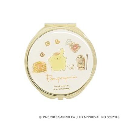 手鏡 ミラー 拡大鏡 キラキラ プレゼント コンパクトミラー サンリオキャラクターズ ふんわりポムポムプリン SR-M0020-IV アイボリー お
