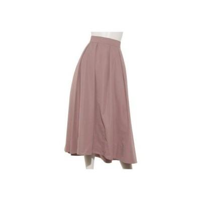グログランタックボリュームスカート (ピンク)