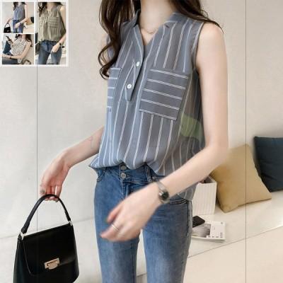 レディースシャツ 袖無し ゆったり 快適 ストラップ オシャレ 20代 30代 40代 簡素 シンプル 森ガール系 涼しい 夏 新作 きれい