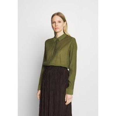 カフェ レディース シャツ トップス MORINA SHIRT - Button-down blouse - capulet olive capulet olive
