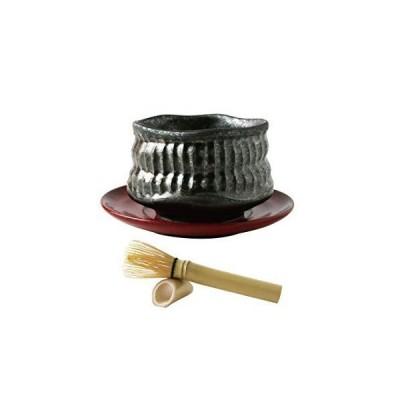 ヤマキイカイ 抹茶碗マドラーセット(黒) おくりもの42