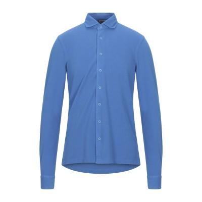 グラン サッソ GRAN SASSO シャツ ブルー 46 コットン 100% シャツ