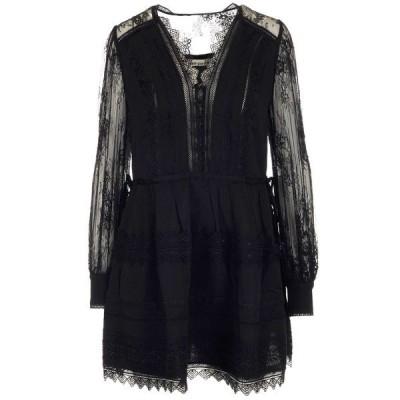 セルフ・ポートレイト レディース ワンピース トップス Self-Portrait Lace Trimmed Mini Dress -