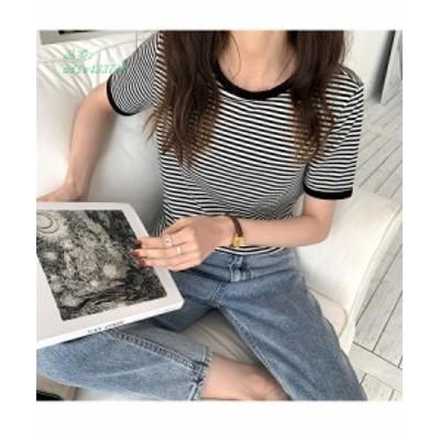 カットソー Tシャツ 半袖 レディース 春 夏 30代 ボーダー 大人 トップス 40代 春夏 20代 配色