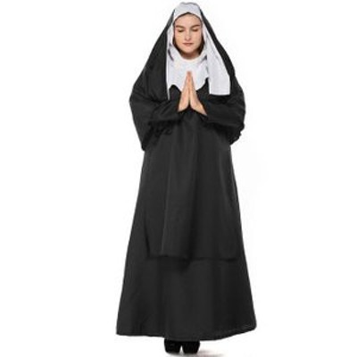 修道女 コスプレ ハロウィン 聖女 シスター コスチューム 教会修道女衣装 教士 牧師 コスチューム レディース 仮装 魔女 女王 大人用 じ