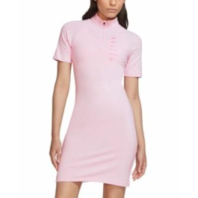 ナイキ レディース ワンピース トップス Sportswear Logo Bodycon Dress Pink Foam /Pink Glow
