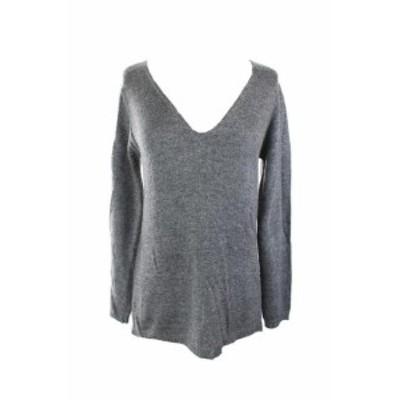 ファッション トップス Studio M New Steel Open-Stitch V-Neck Sweater S