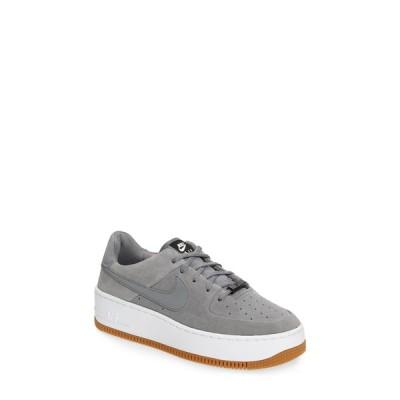 ナイキ スニーカー シューズ レディース Air Force 1 Sage Low Platform Sneaker Smoke Grey/ Particle Grey