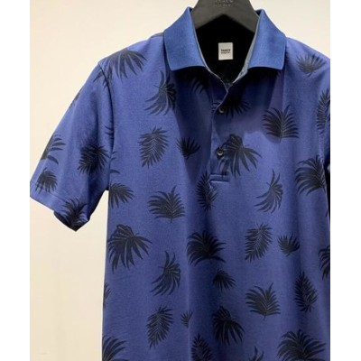 【Sサイズ~】リーフ総柄 カノコ ポロシャツ