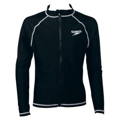 スピード SPEEDO ジュニア 水泳 スイムウェア ラッシュガード ロングスリーブアクアシャツ SD65J17 K