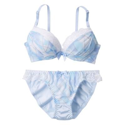 マルチプリント ブラジャー・ショーツセット(A70/M) (ブラジャー&ショーツセット)Bras & Panties