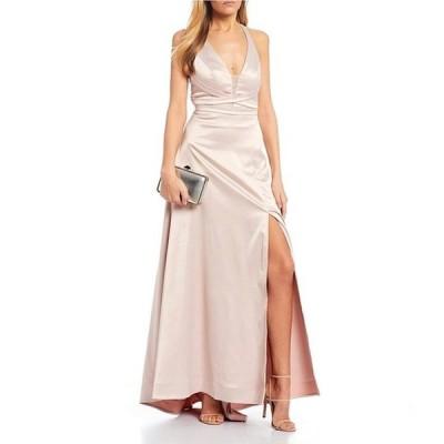 シークインハーツ レディース ワンピース トップス X-Waist Satin Long Dress
