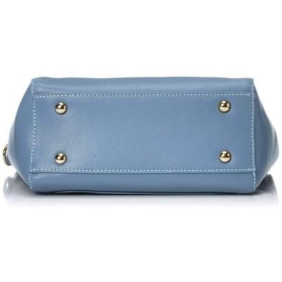 ユメックス シンプルな形に持ち手のディテールが可愛い2WAYショルダーバッグ 2002921 ブルー