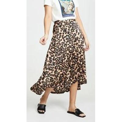 JOA レディーススカート JOA Sheen Leopard Skirt Sheen Leopard