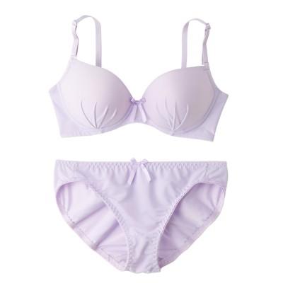 脇高下厚モールドブラジャー・ショーツセット(B70/M) (ブラジャー&ショーツセット)Bras & Panties
