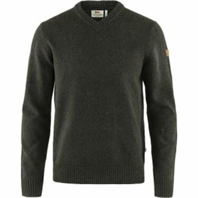 フェールラーベン Fjallraven メンズ ニット・セーター Vネック トップス Ovik V Neck Sweater Dark Olive