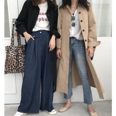 トレンチコート レディース スプリングコート アウター ロングコート 薄手 春 秋 韓国 ファッション 20代30代40代 大きめ 1152