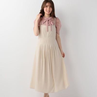 ミッシュマッシュ MISCH MASCH 後リボンジャンパースカート (ベージュ)