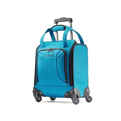 American Tourister Zoom Softside Luggage with Spinner Wheels, Teal Blue, Underseater【並行輸入品】