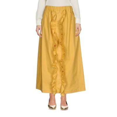 GOLD CASE 7分丈スカート イエロー 40 コットン 97% / ポリウレタン 3% 7分丈スカート