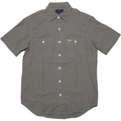 ポロ ラルフローレン 半袖 シャンブレーシャツ グレー メンズ Polo Ralph Lauren 1264