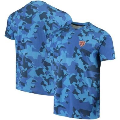 ユニセックス スポーツリーグ フットボール Chicago Bears MSX by Michael Strahan Camo Printed T-Shirt - Royal Tシャツ