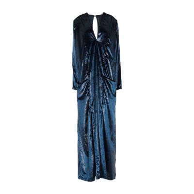 マニラ グレース MANILA GRACE ロングワンピース&ドレス ダークブルー 42 ポリエステル 100% ロングワンピース&ドレス