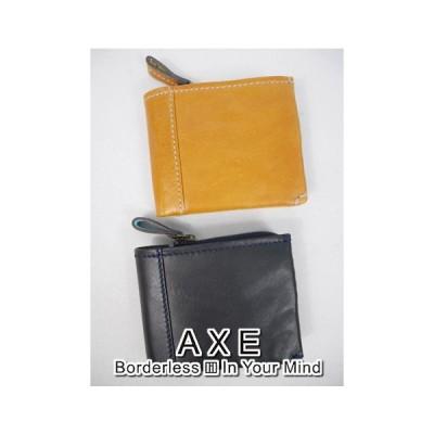 アックス AXE 二つ折り財布(11.5×9×2cm:メンズ) 新作モデル