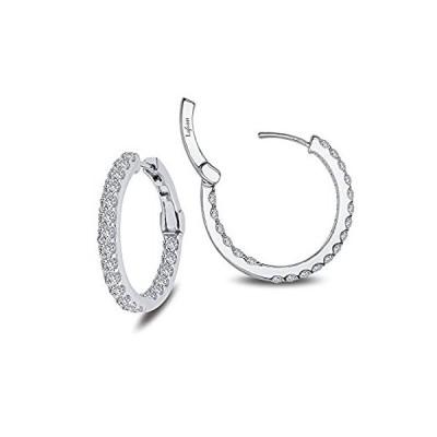 特別価格LafonnクラシックスターリングシルバープラチナメッキLassire模造ダイヤモンドイヤリング( 2.16カラット好評販売中