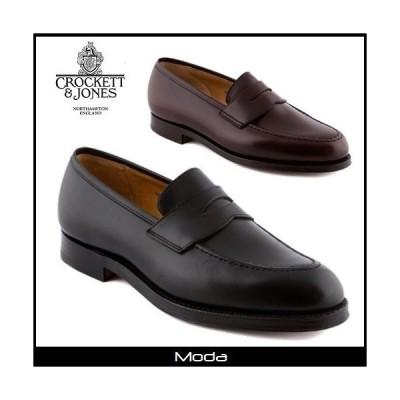 クロケット&ジョーンズ ローファー メンズ Crockett&Jones 靴 黒 ブラック