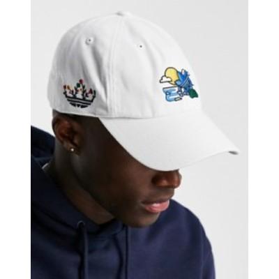アディダス メンズ 帽子 アクセサリー adidas Originals treffy recyled floral relaxed cap in white White