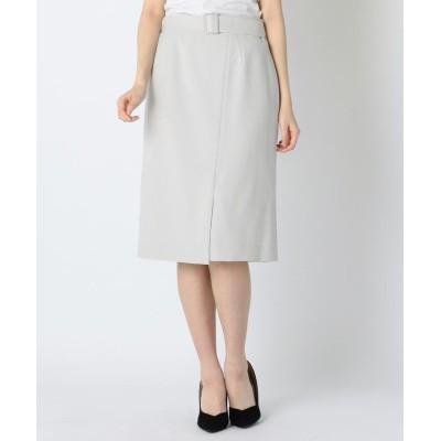 【ミューズ リファインド クローズ】 ウォッシャブルストレッチスカート レディース ライト グレー L MEW'S REFINED CLOTHES