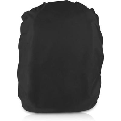 レインカバー ザックカバー 防水カバーリュック 防水撥水 耐水圧 UVカット 軽量 Mサイズ 対応サイズ30-40L【ブラック】