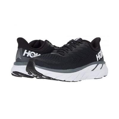Hoka One One ホカオネオネ レディース 女性用 シューズ 靴 スニーカー 運動靴 Clifton 7 - Black/White