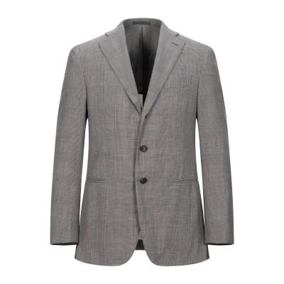 カルーゾ CARUSO テーラードジャケット グレー 46 ウール 71% / シルク 15% / リネン 14% テーラードジャケット