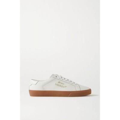 イヴ サンローラン SAINT LAURENT レディース スニーカー シューズ・靴 court classic logo-embroidered leather sneakers