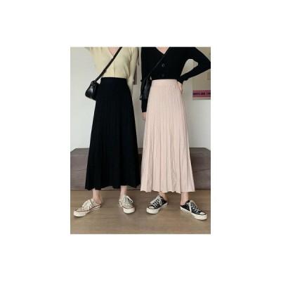 【送料無料】韓国風 何でも似合う ニットスカート 女 年 秋 ハイウエスト 裾 着や | 364331_A63664-8811528