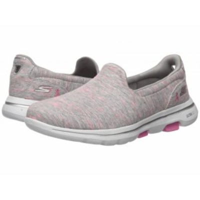 SKECHERS Performance スケッチャーズ レディース 女性用 シューズ 靴 スニーカー 運動靴 Go Walk 5 15044 Gray/Pink【送料無料】